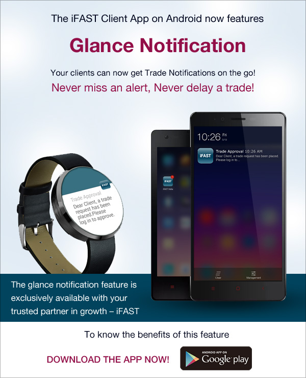 Glance Notification in iFAST Client App