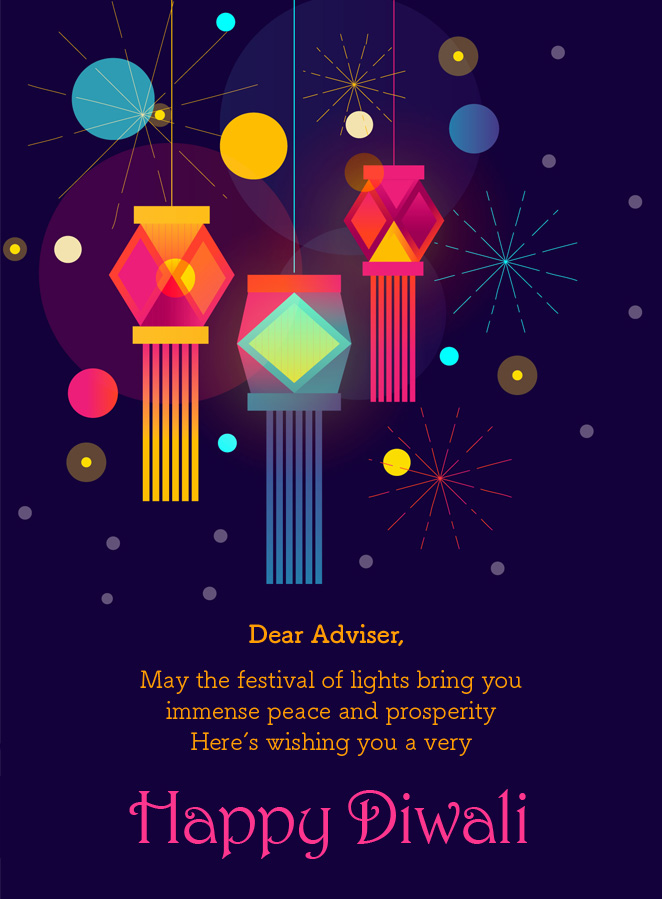 Wishing all our valued advisers a very happy and prosperous Diwali