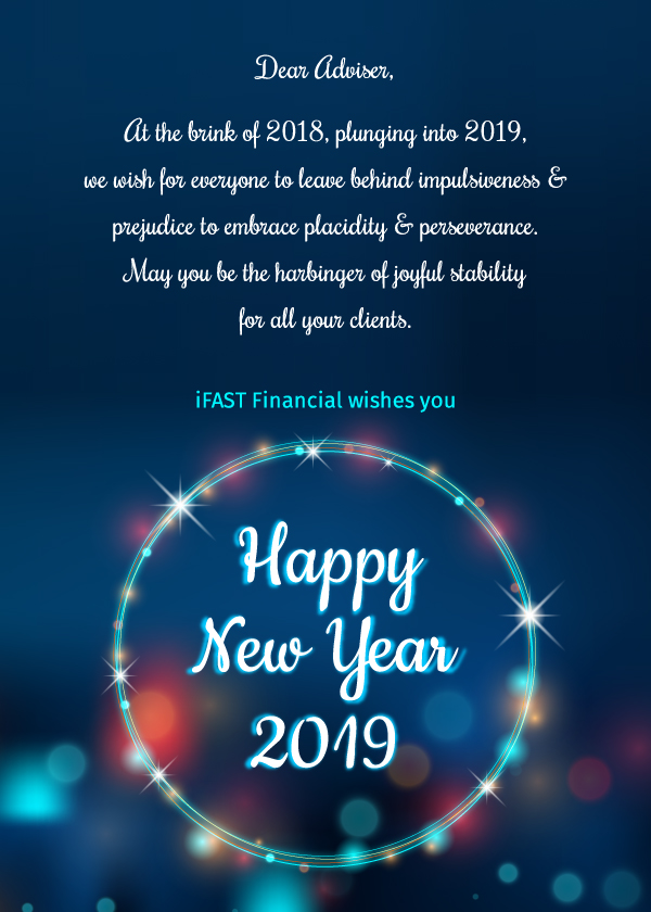iFAST Financial India wishes you a Very Happy New Year 2019!