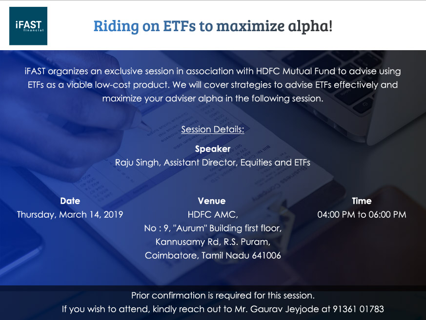 Riding on ETFs to maximize alpha!